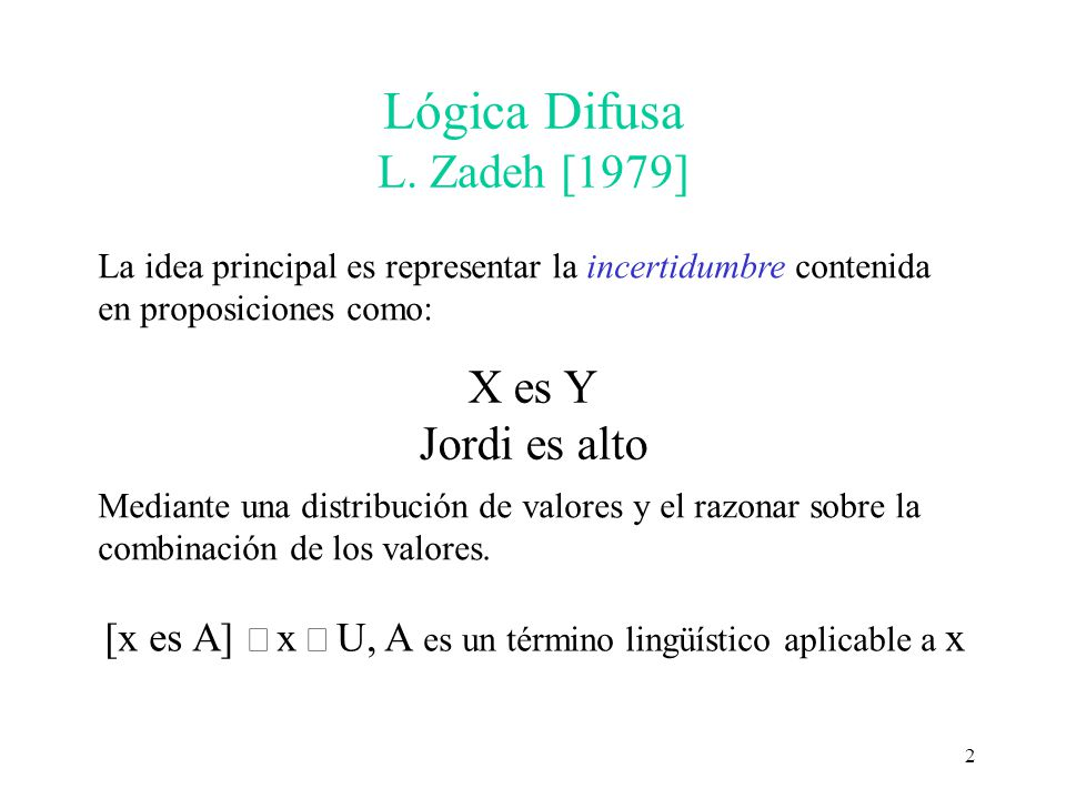 Lógica Difusa L. Zadeh [1979]